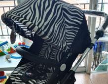 雅贝婴儿车评测_四季用可坐躺高景观