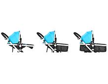 婴儿车坐和躺怎么调节 婴儿车坐躺示意图解