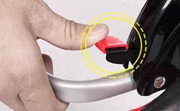 step3、按压后轮反翻装置;