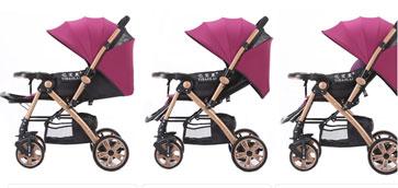 亿宝莱婴儿车角度调节