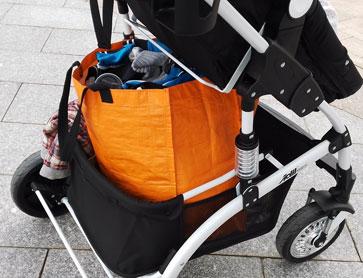 雅贝婴儿推车超大置物袋