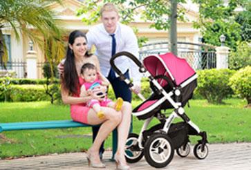 威可迪婴儿车双向设计