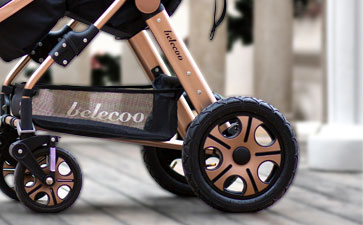 贝丽可婴儿车轮胎设计