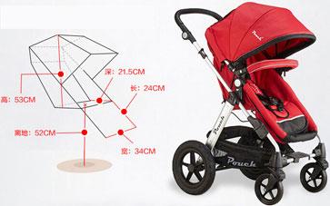 pouch婴儿车座椅尺寸