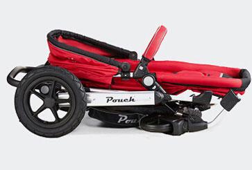 pouch婴儿车折叠尺寸