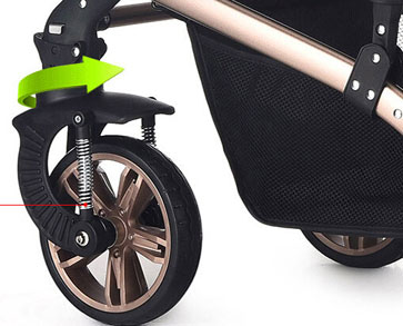 TEKNUM婴儿车前轮功能