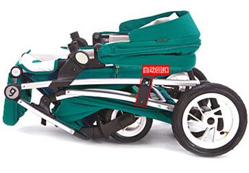 Anglebay婴儿车折叠收车步骤