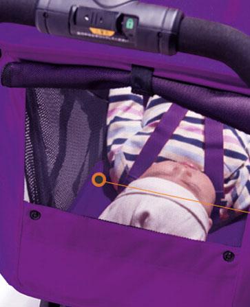 combi婴儿车遮阳篷开天窗