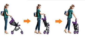 combi婴儿车收车步骤