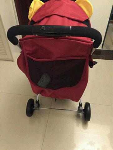 圣得贝婴儿车置物袋很大