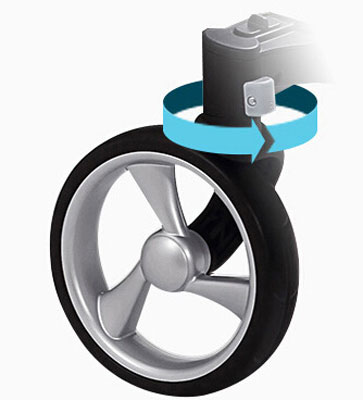 mima婴儿车360°万向前轮