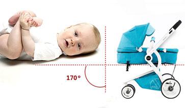 威凯婴儿车角度防呛奶
