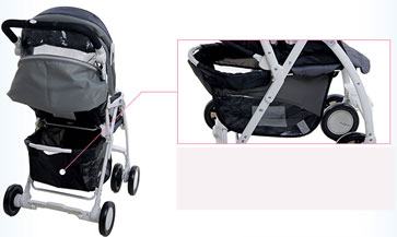 chicco婴儿车置物篮