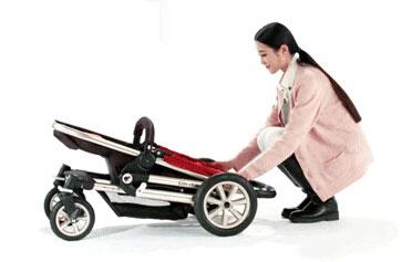 咕比婴儿车折叠