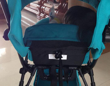 bair婴儿车椅背调节