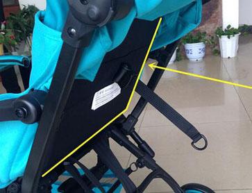 bair婴儿车一键折叠按钮