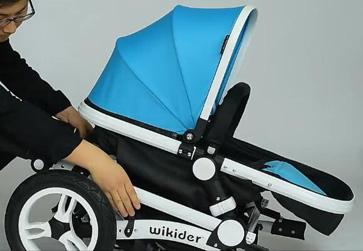 wikider婴儿车折叠到位