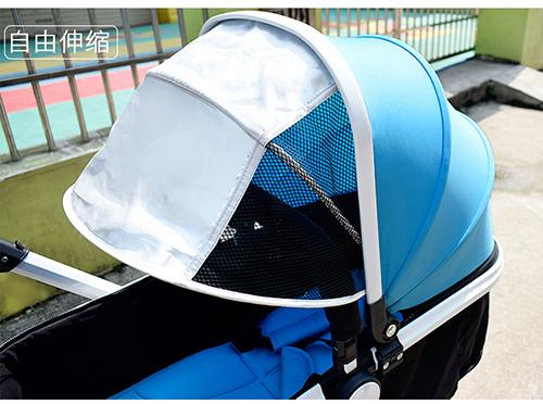 威可迪婴儿车加长遮阳篷